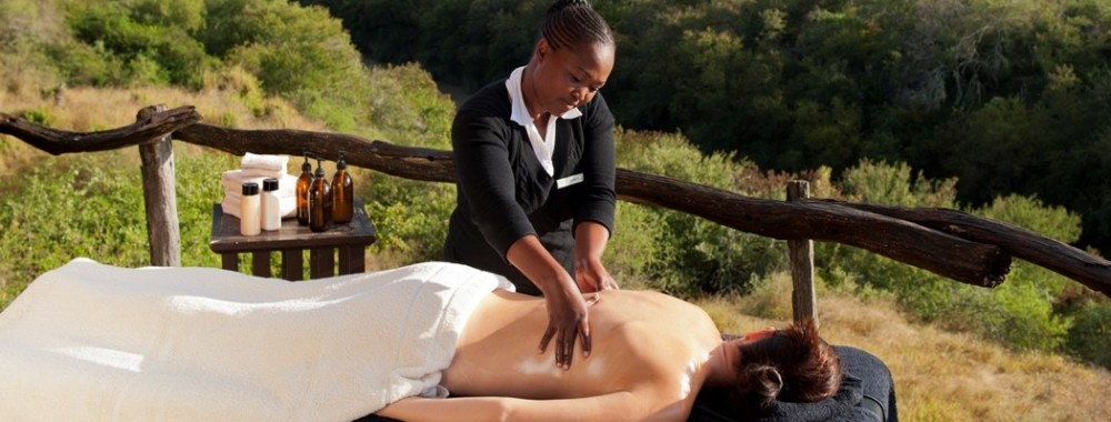Massages na safari Afrika